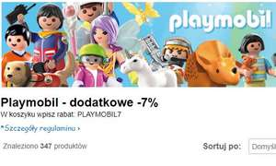 Playmobil - dodatkowe -7% rabatu na smyk.pl