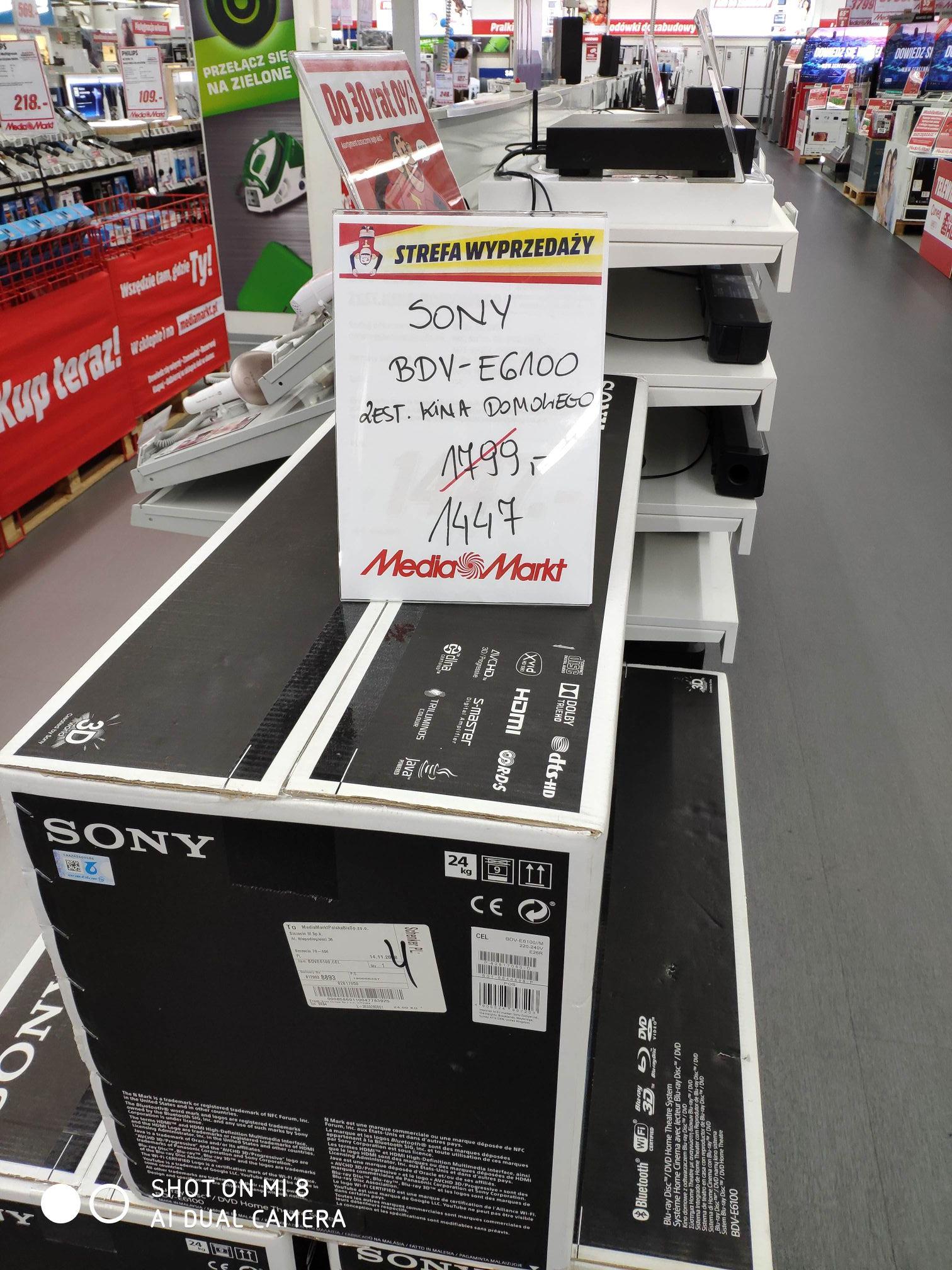 Sony BDV-E6100  zestaw kina domowego - Media Markt