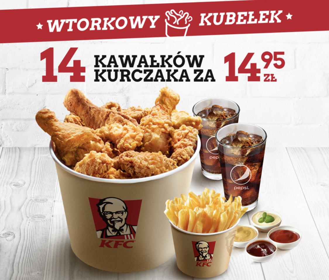 Wtorkowy kubełek KFC