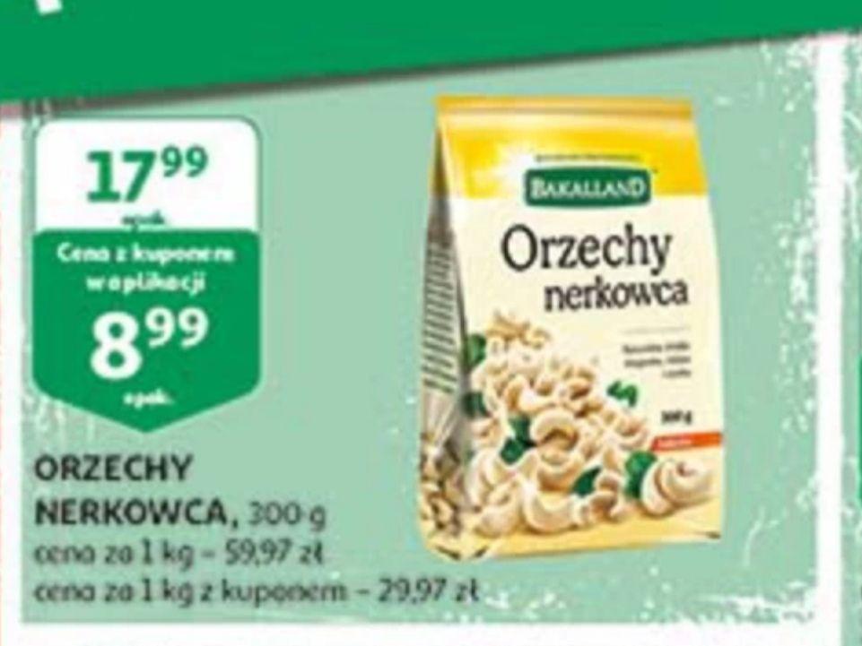 Orzechy nerkowca Bakalland 29,97 zł za kg z kuponem w aplikacji w Auchan