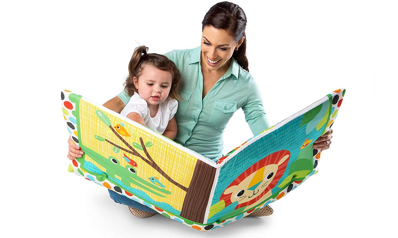 Mata edukacyjna / Książka Przyjaciele z Dżungli dla dziecka Bright Starts