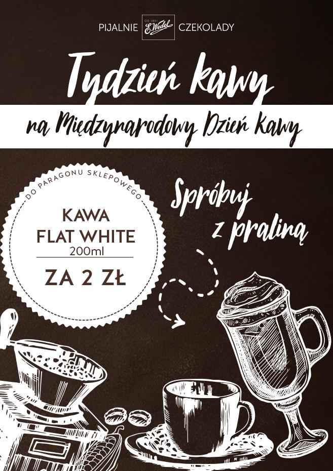 Do każdego zakupu kawa na wynos za 2zł @ Pijalnie Czekolady Wedel