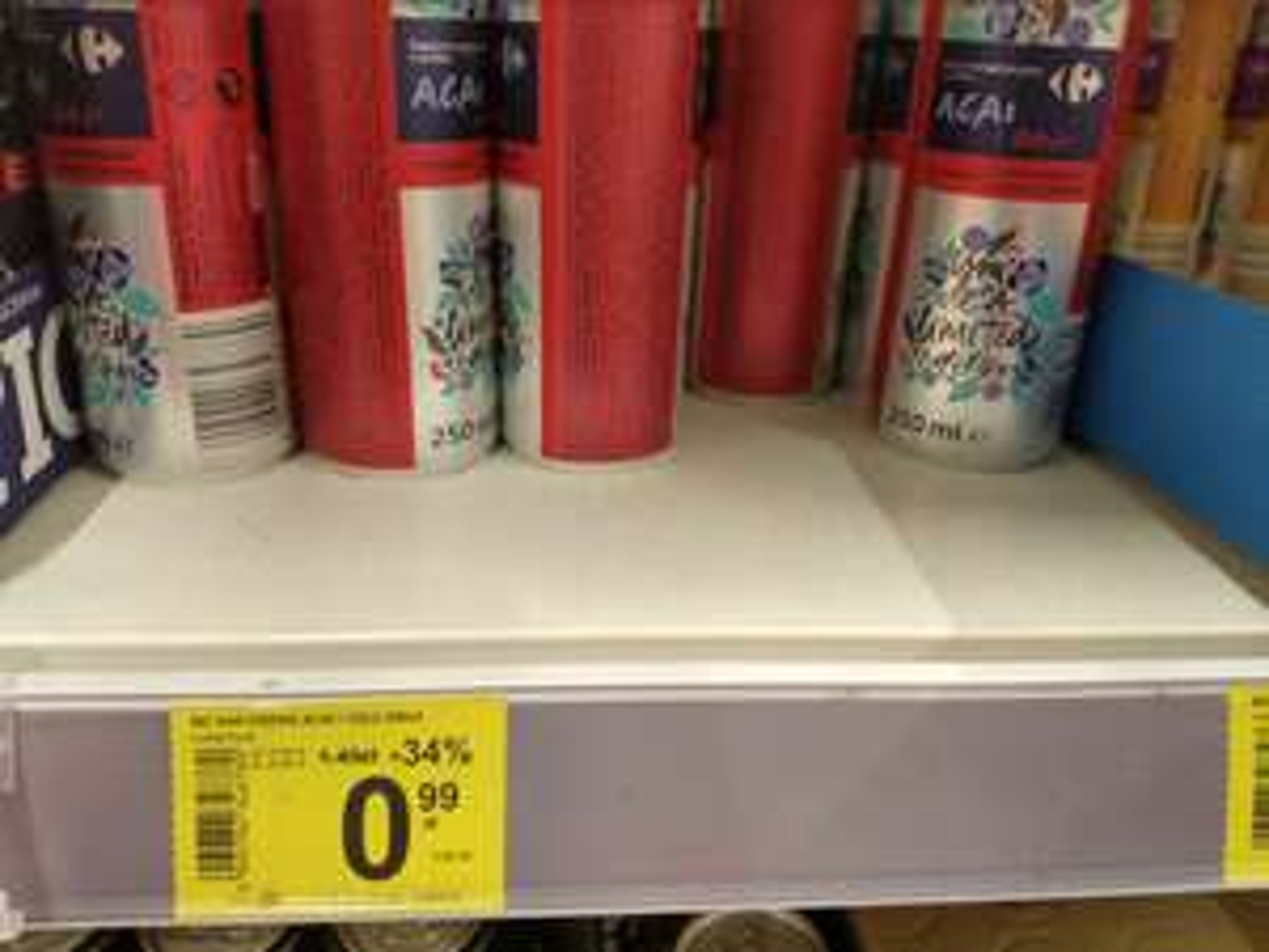 Napój energetyczny, różne smaki - Carrefour