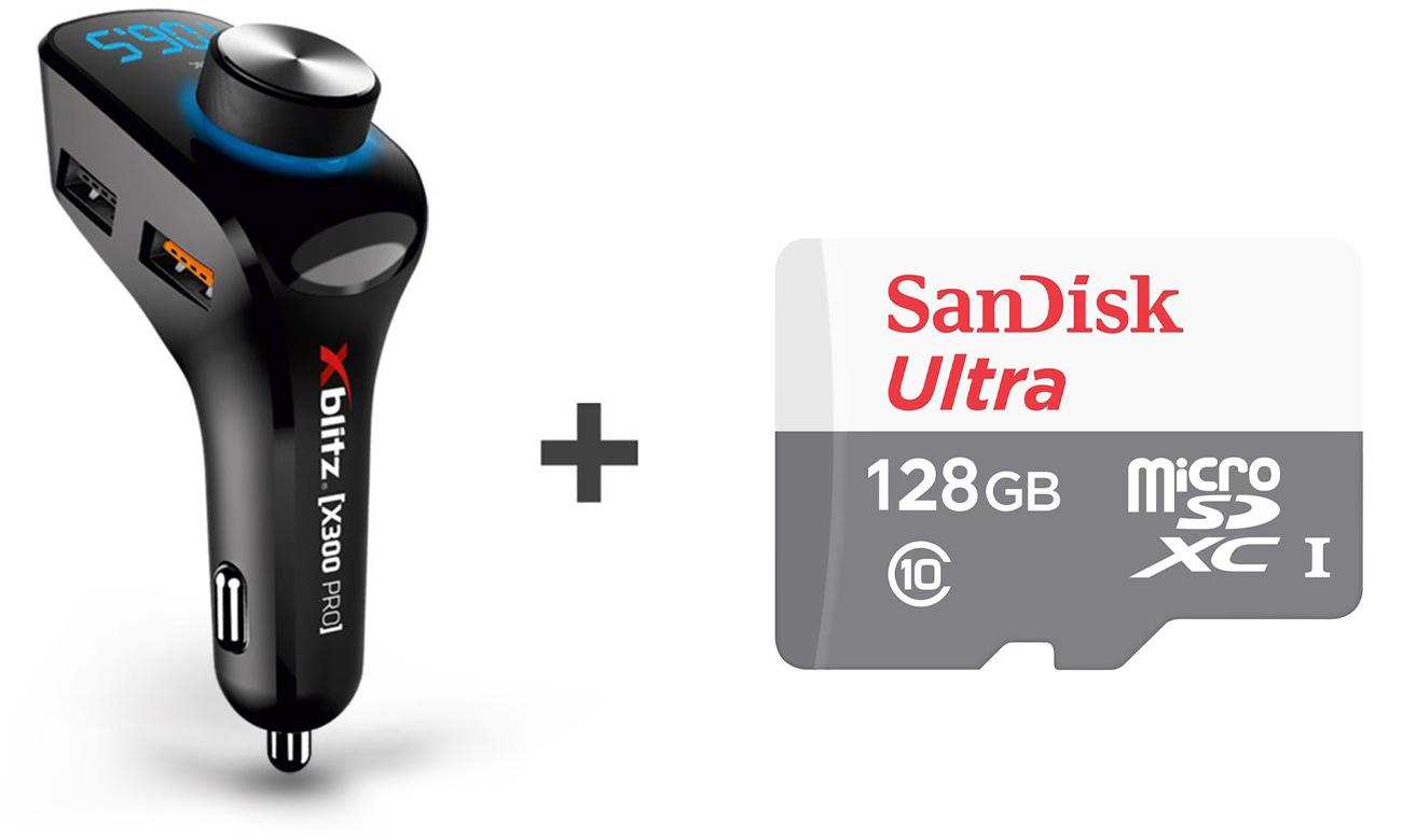 Xblitz X300 Pro + SanDisk 128GB microSDXC Ultra