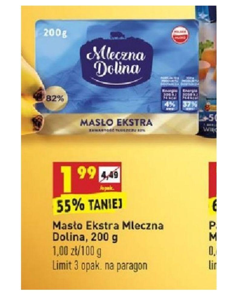 Masło Extra Mleczna Dolina - przy zakupach za min 199zł - Biedronka