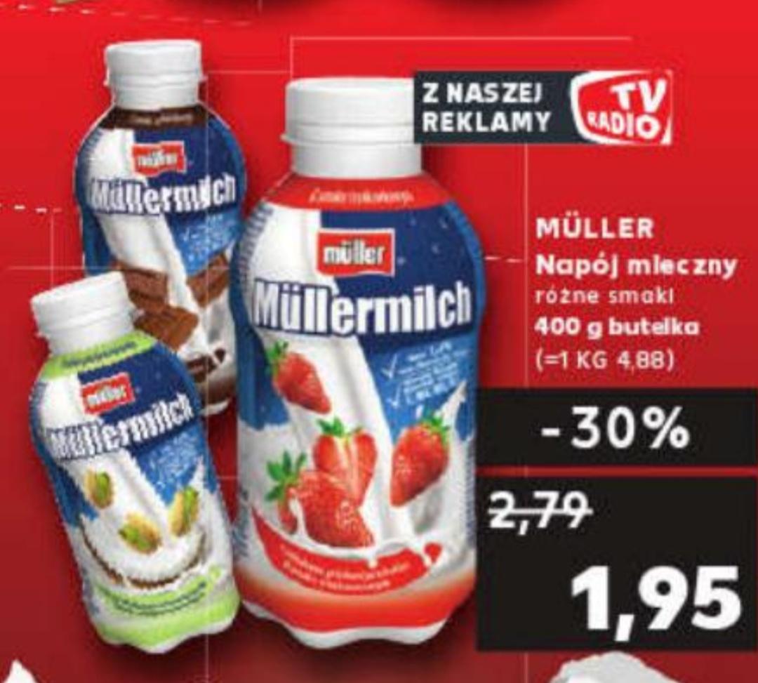 Müllermilch napój mleczny różne smaki 400g butelka@ Kaufland 28.09-29.09