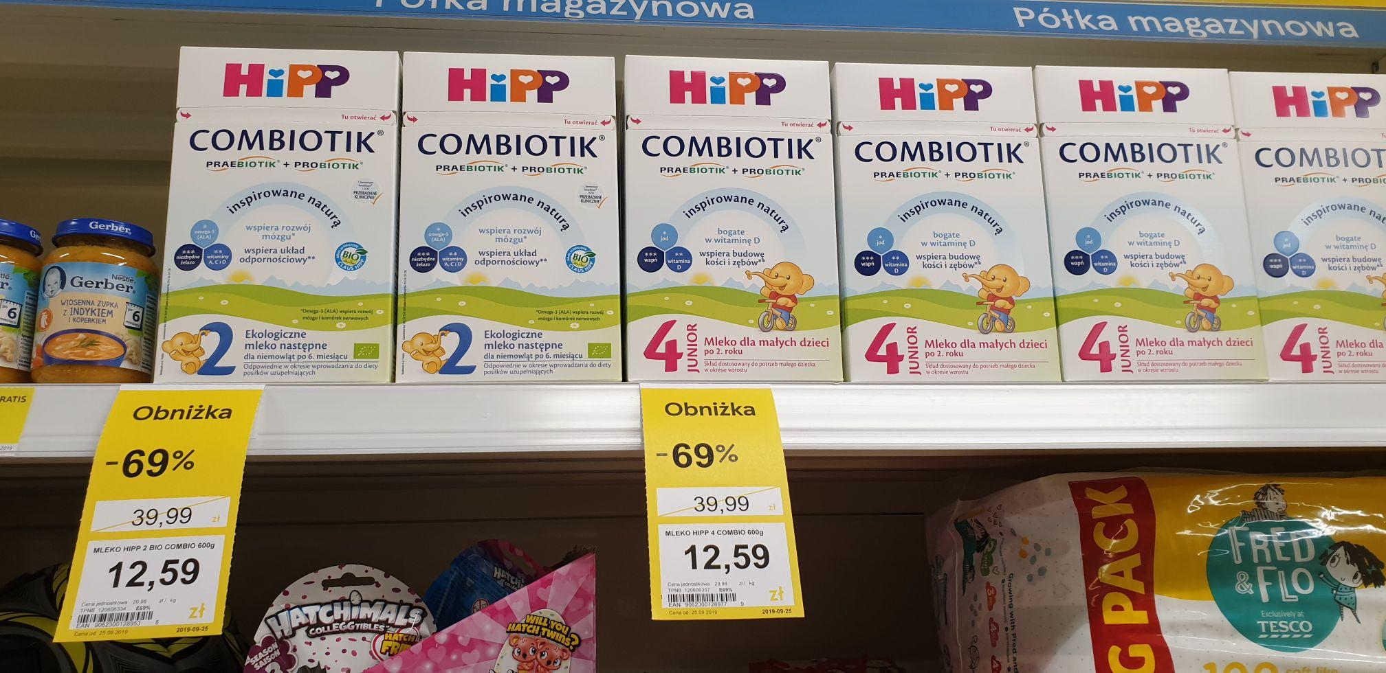 Mleko Hipp Combiotik 2 i 4 |Tesco Tesco Supermarket Rembertów