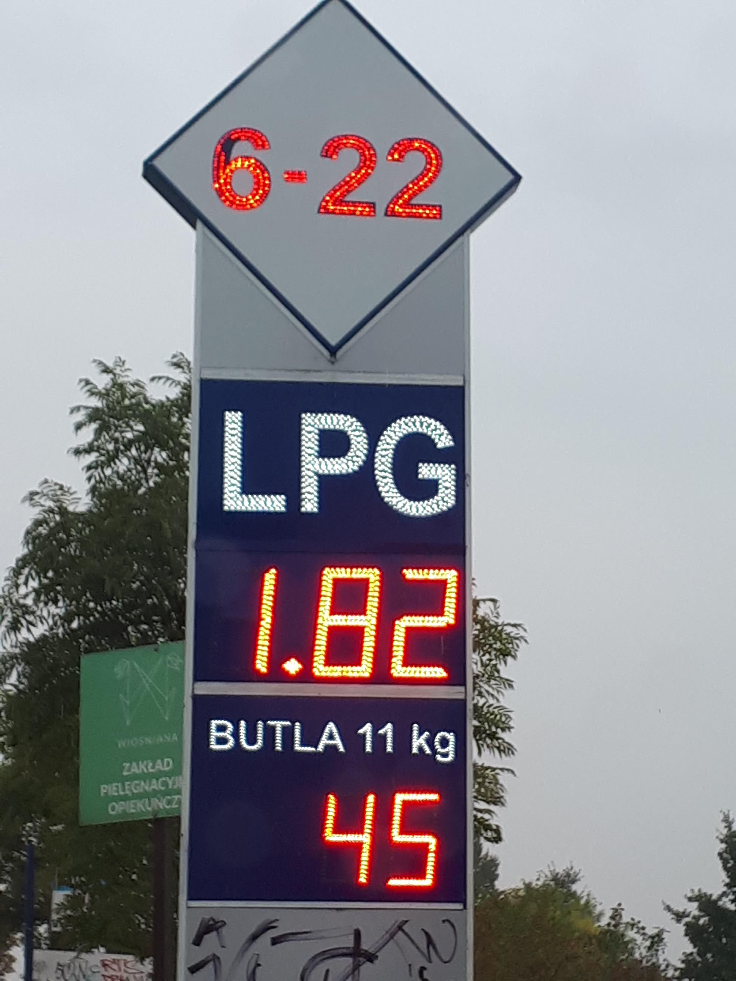 Tani Gaz LPG ul. Dąbrowskiego Łódź