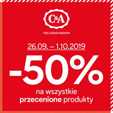 -50% na wszystkie przecenione produkty (stacjonarnie) @ C&A