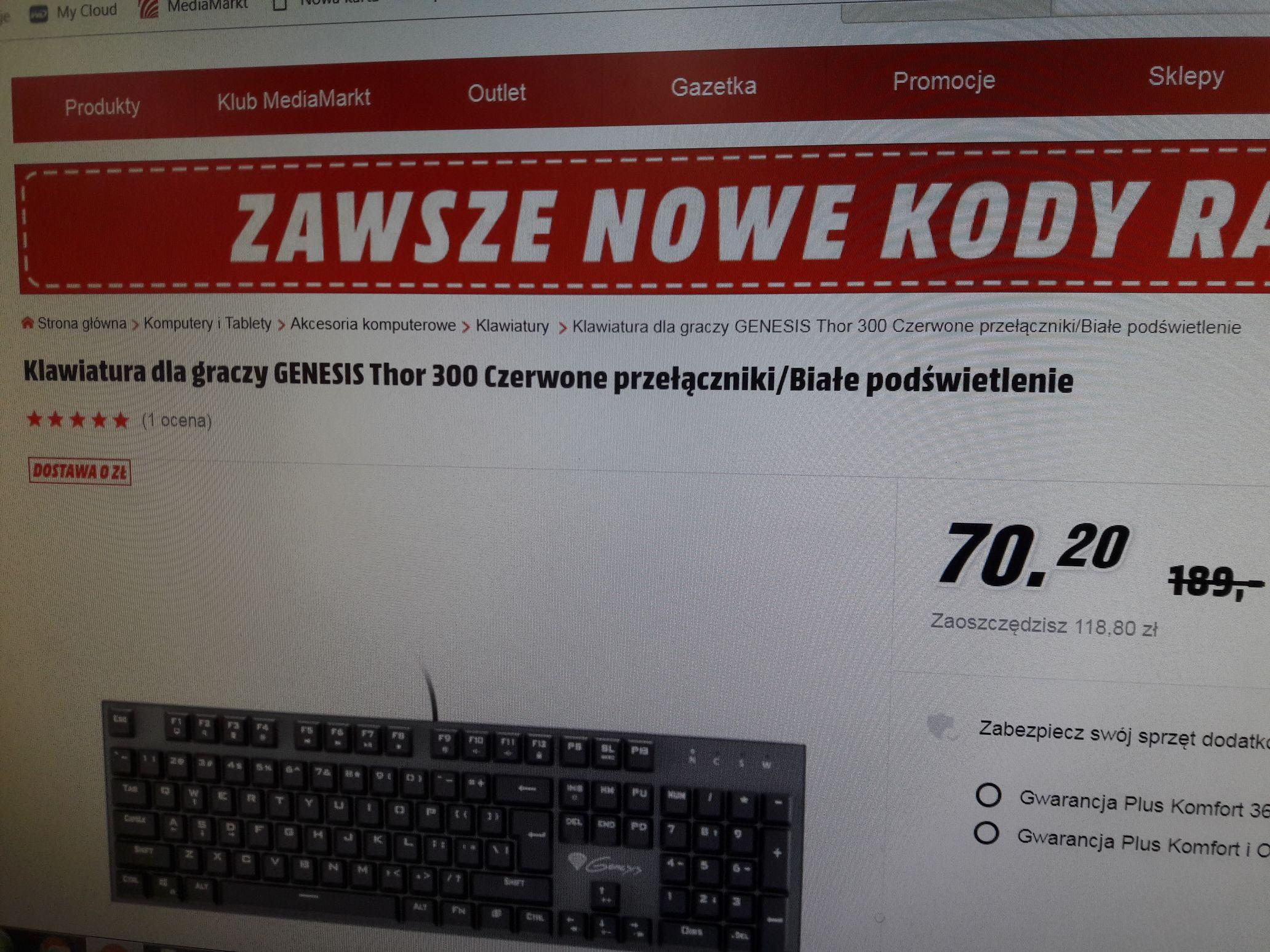 Wietrzenie Magazynow MediaMarkt Klawiatura Mechaniczna Thor 300