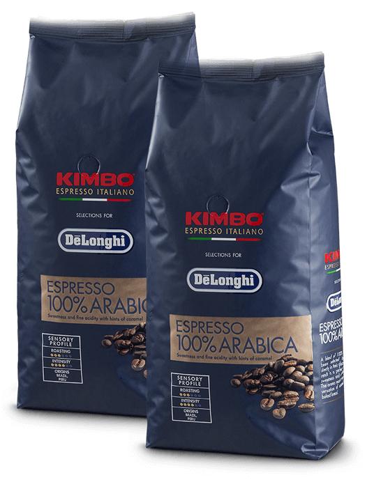 2 kg kawy De'Longhi Kimbo Espresso 100% Arabica za darmo (tylko dla osób, które kupiły ekspres automatyczny)