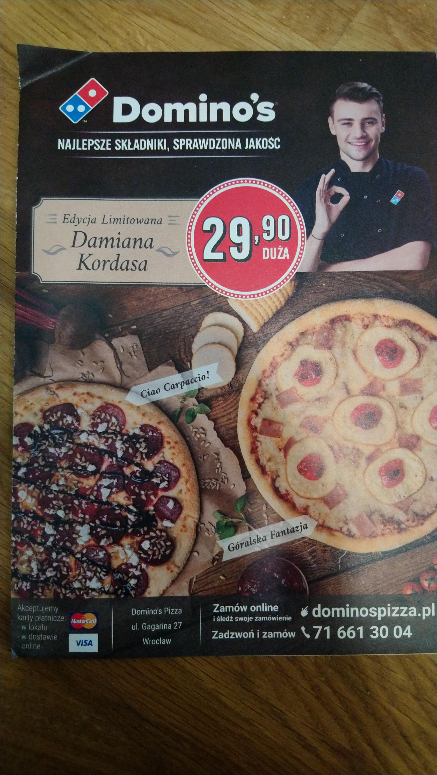 Kody promocyjne Dominos pizza na miesiąc Październik