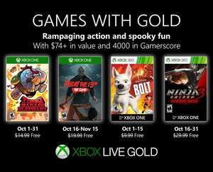 Xbox Games with Gold - październik 2019
