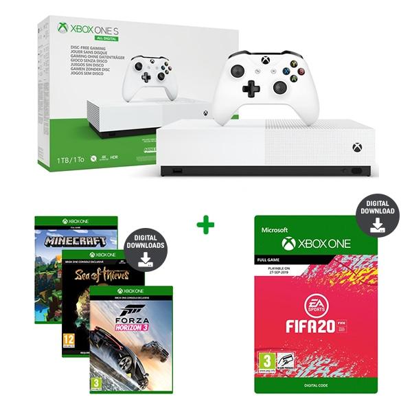 Xbox one S 1 TB All digital + fifa 20, Xbox one X z dodatkami możliwe za ~ 1500 zł