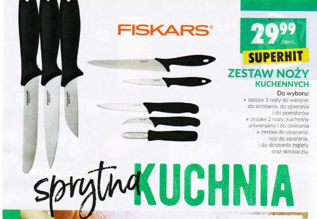 Zestawy noży FISKARS Biedronka