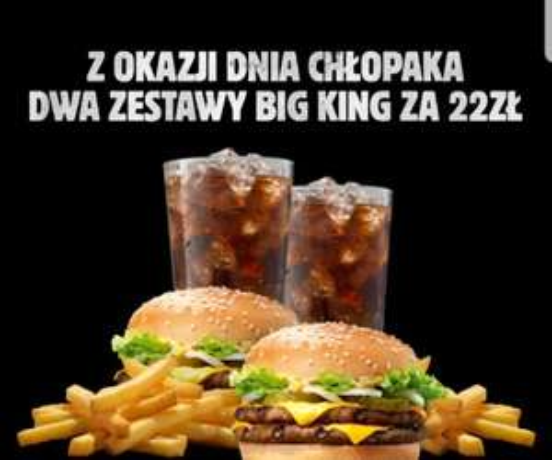 2 x zestaw Big King za 22 zł w Burger King