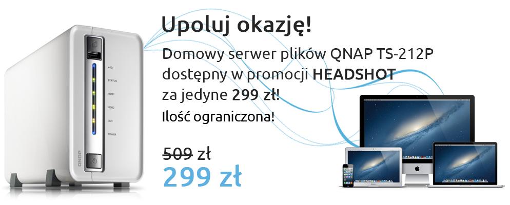 Serwer plików QNAP HEADSHOT! @Proline