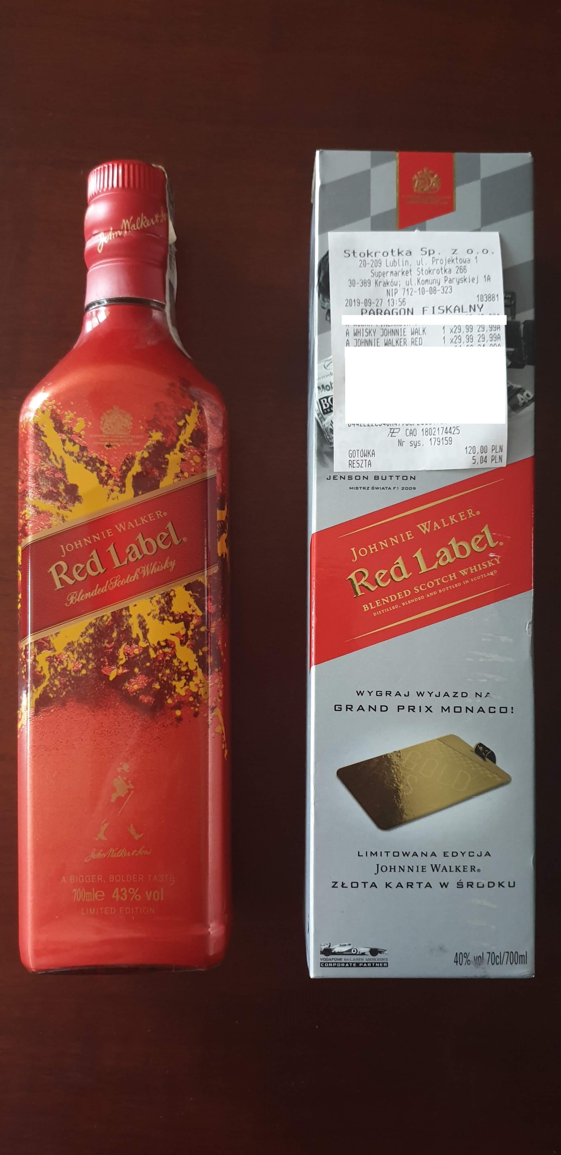 Jonnie Walker Red 0,7l i Johny Walker Red 0,7l Special Edition  29,99zł - Stokrotka