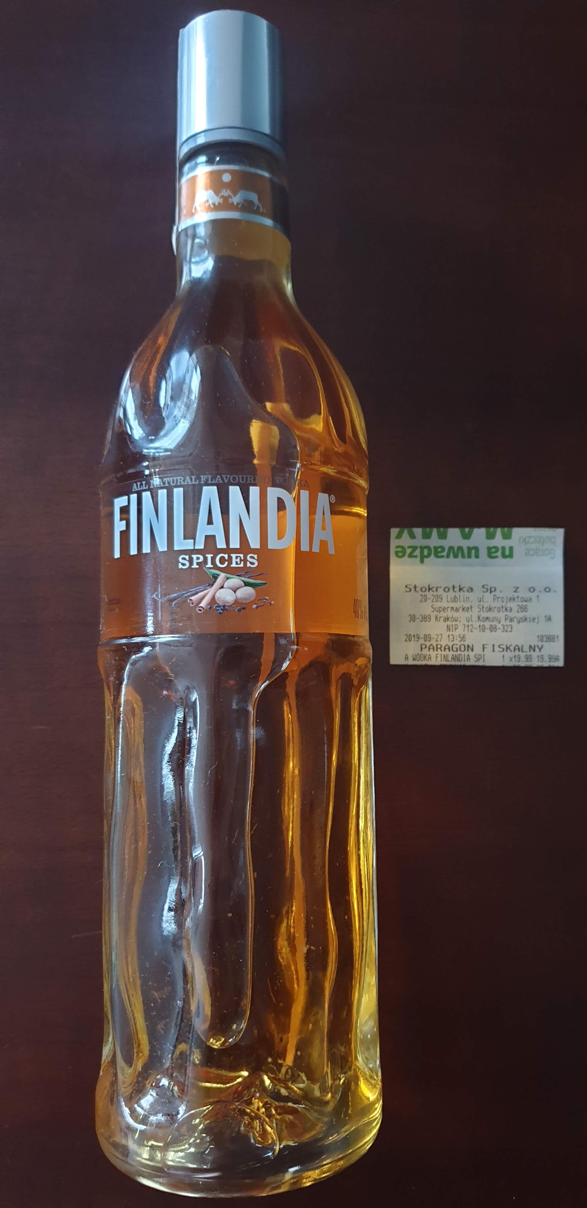 Finlandia Spices 0,7l 40% - Stokrotka