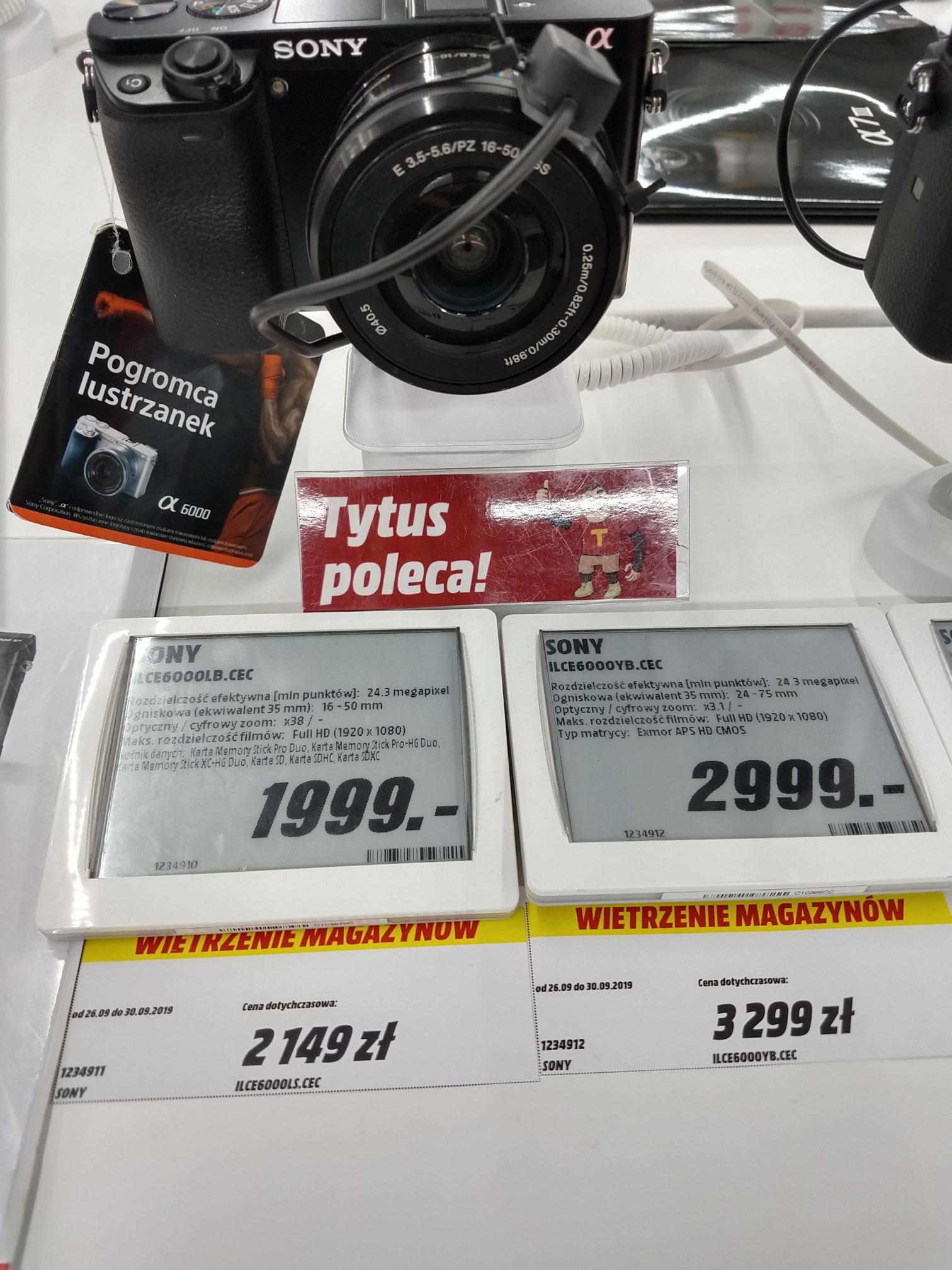 Aparat bezlusterkowy Sony a6000 taniej