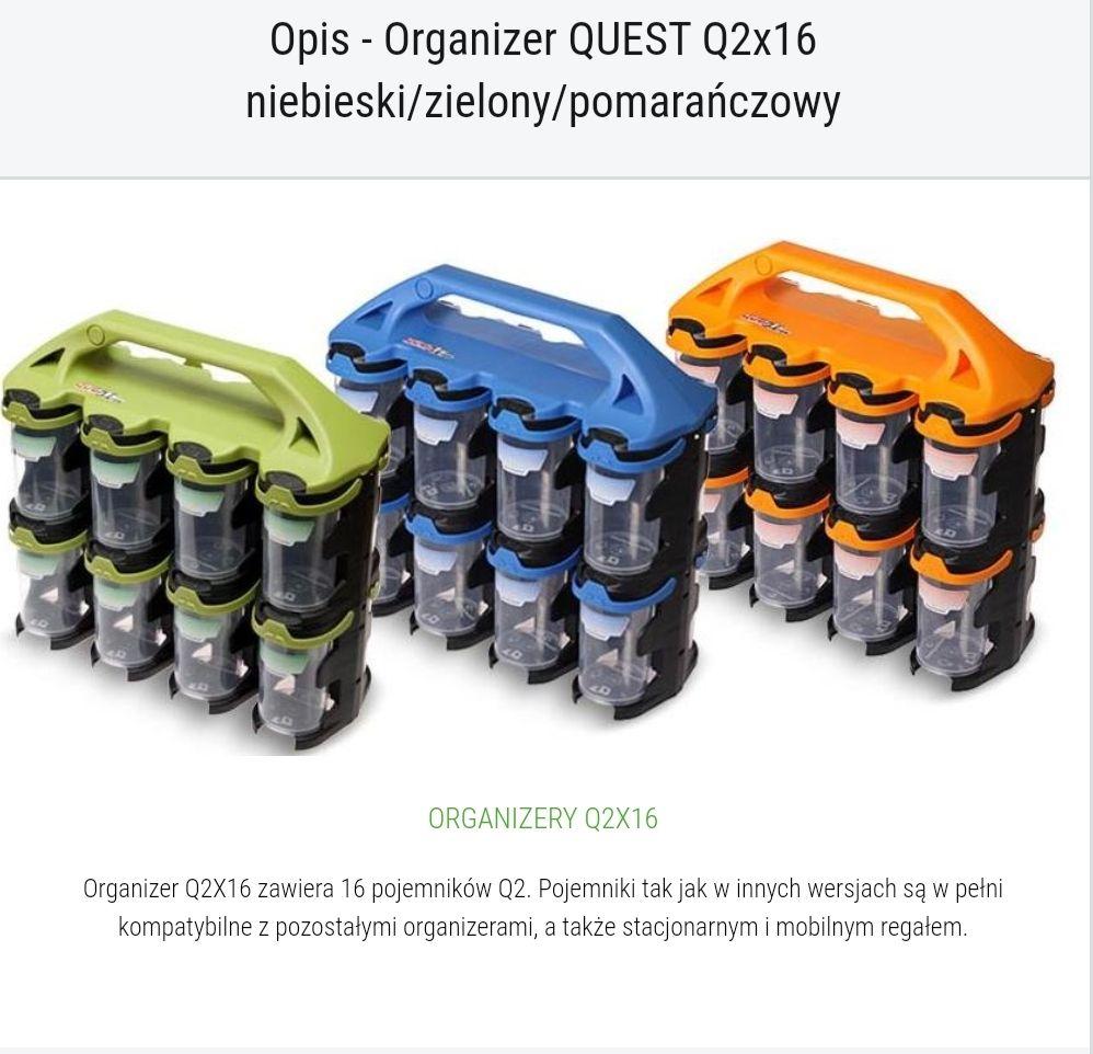 Organizer QUEST Q2x16 niebieski / zielony / pomarańczowy