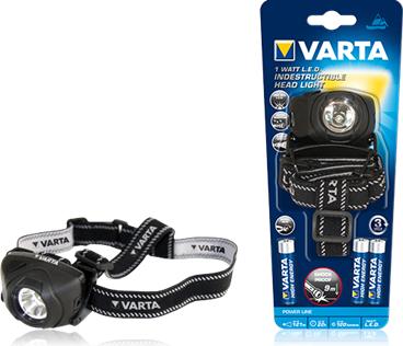 Latarka czołowa VARTA INDESTRUCTIBLE H20 1W LED Head Light 17731, wytrzymała, IPX4, odbiór netpunkt 0 zł