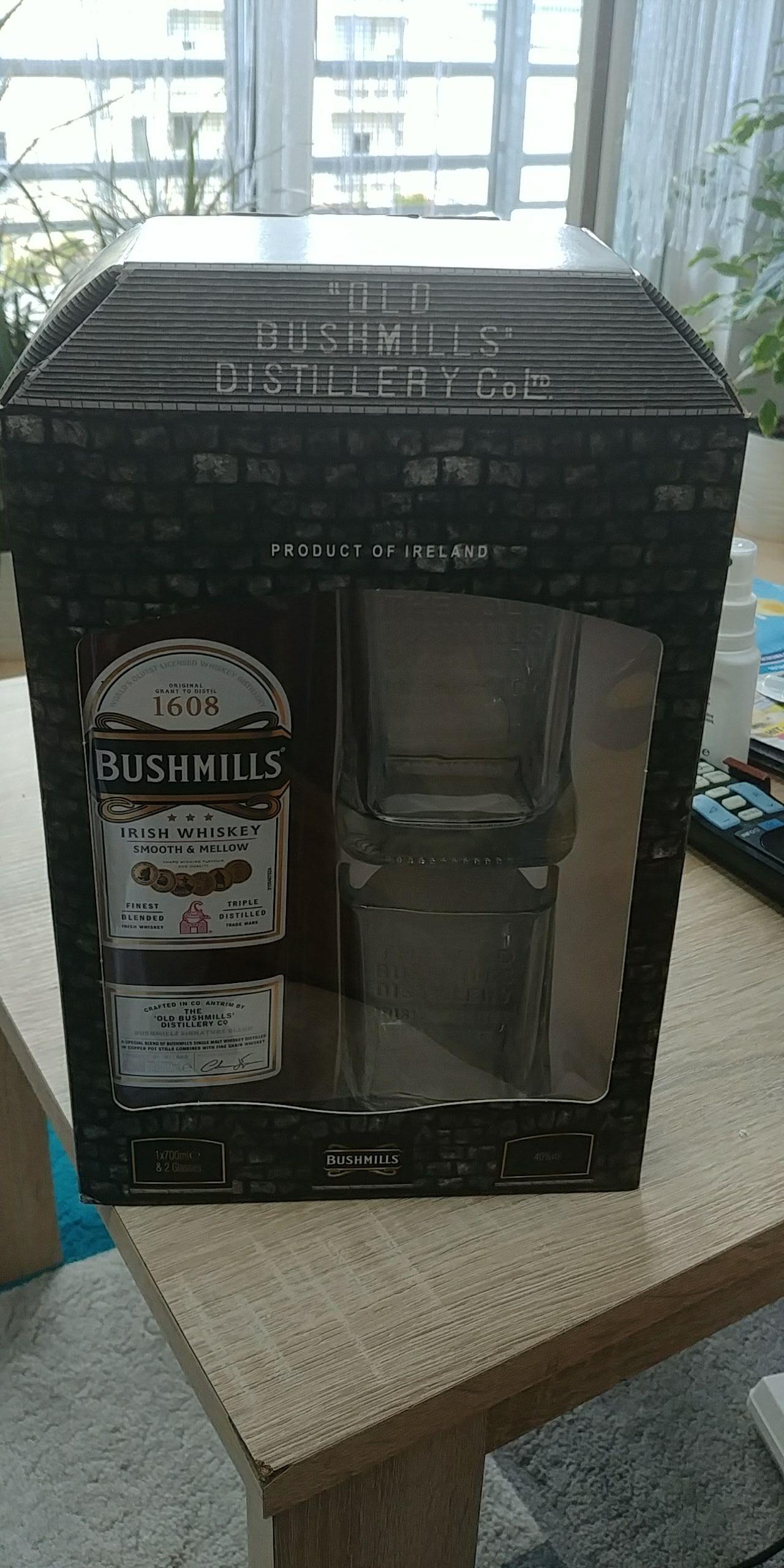 Bushmills 0.7 + 2 szklanki i inne alkohole