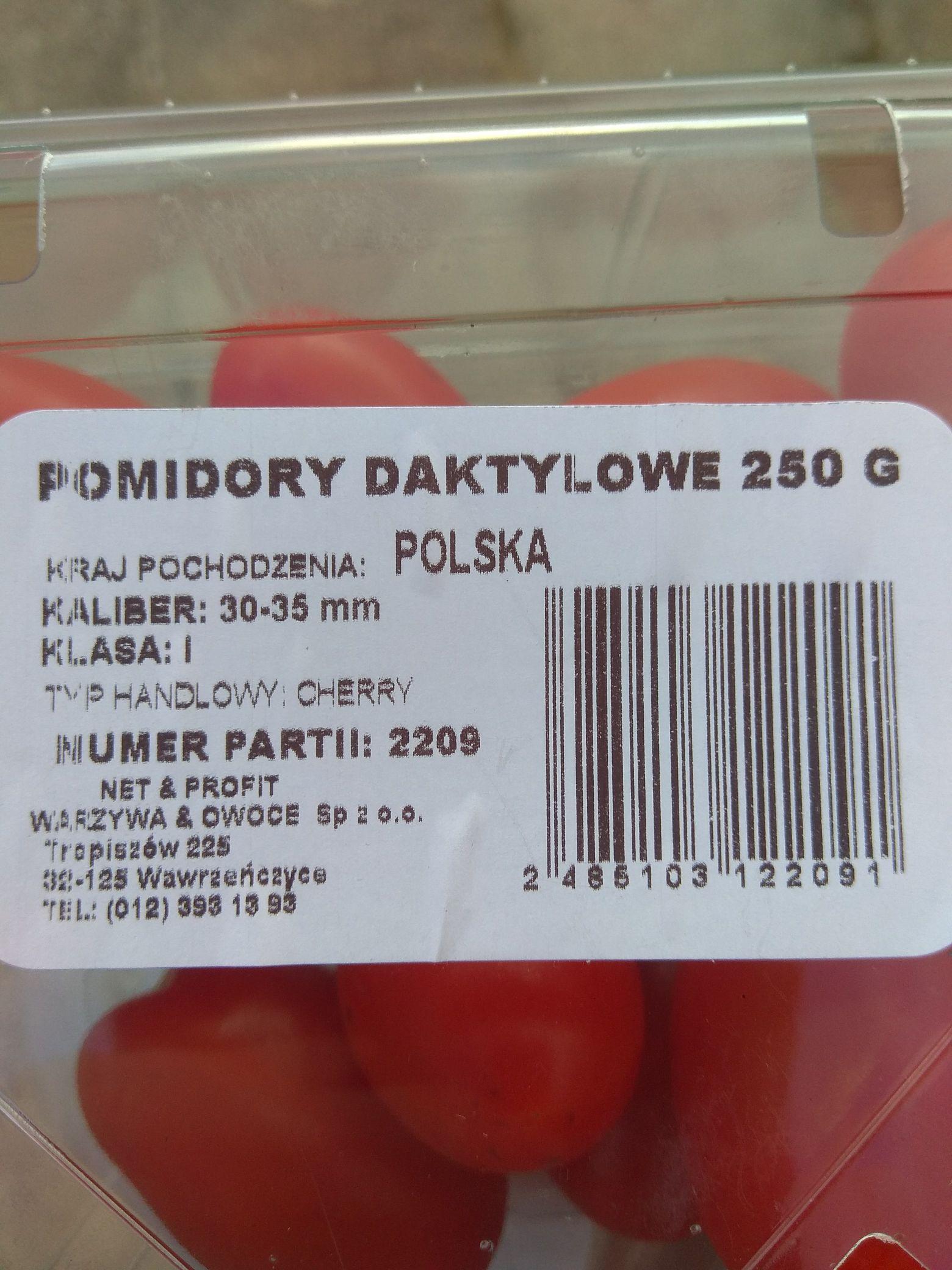 Pomidory Daktylowe