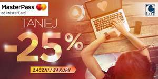 25% zniżki przy płatności MasterPass (do 250zł) @ tagomago