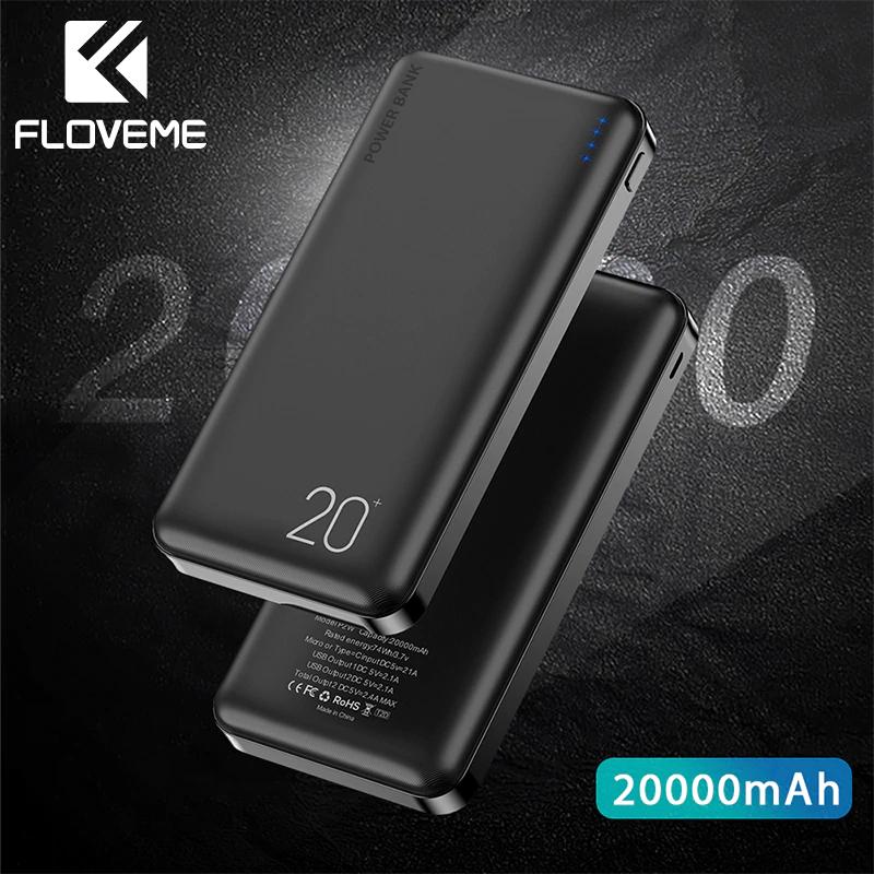 Powerbank FLOVEME 20000mAh  przez aplikację $12,95/ 52.90 z kuponem stoiska 2$