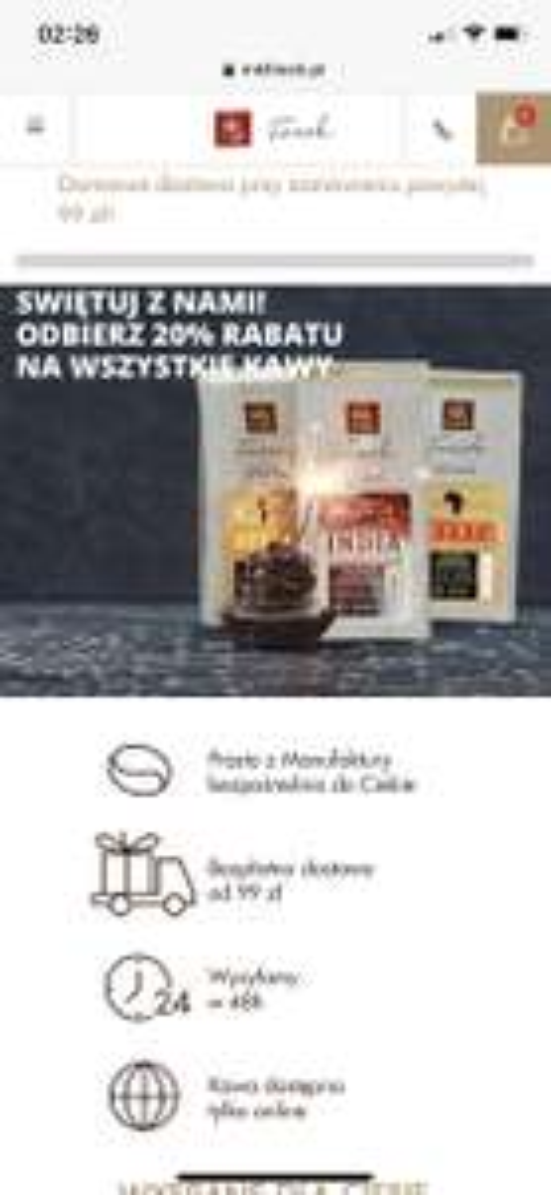 Mk fresk wszystkie kawy 20% taniej + -15%
