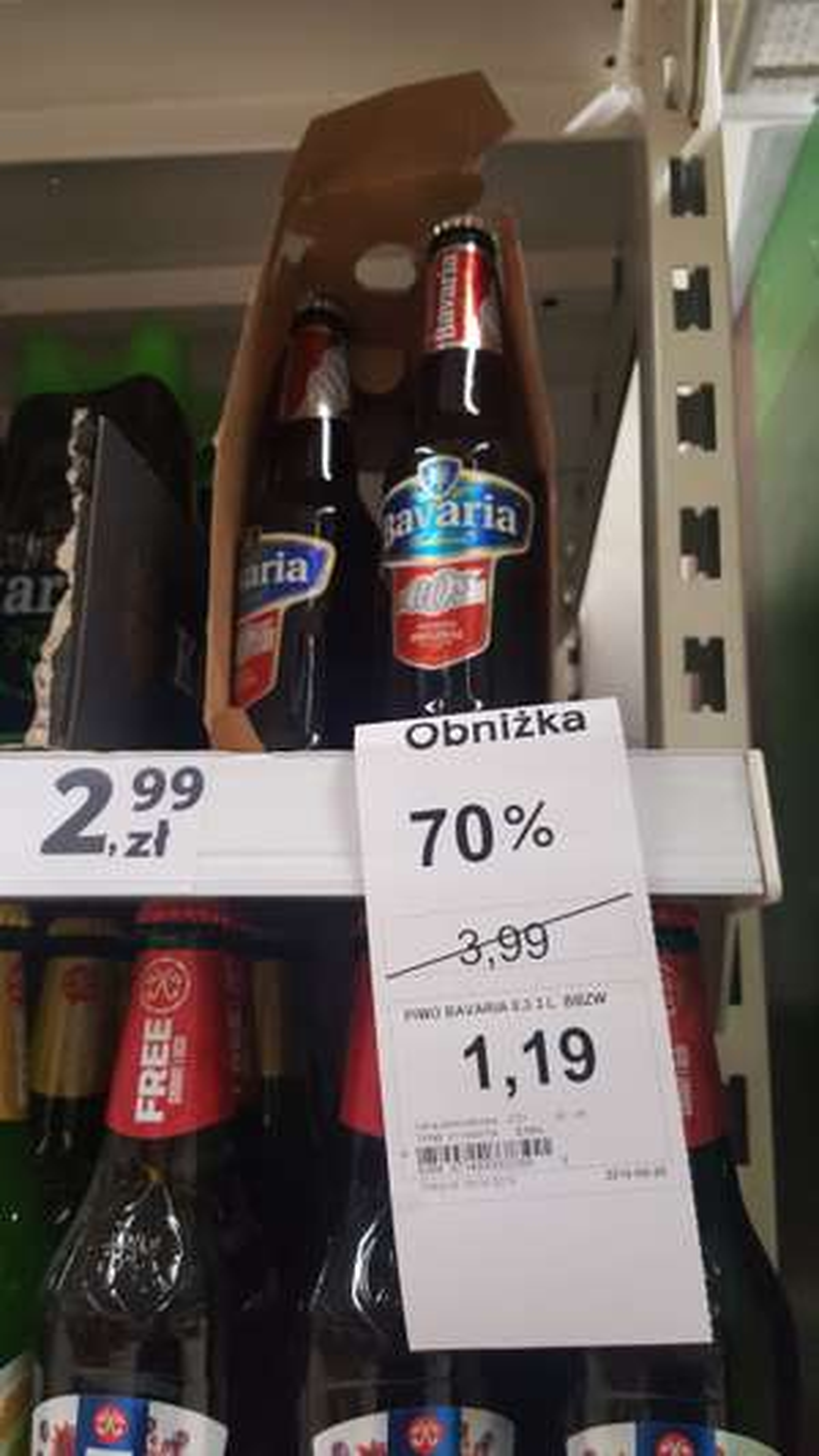 Piwo Bavaria 0% Premium original -70% w TESCO Warszawa Kabaty