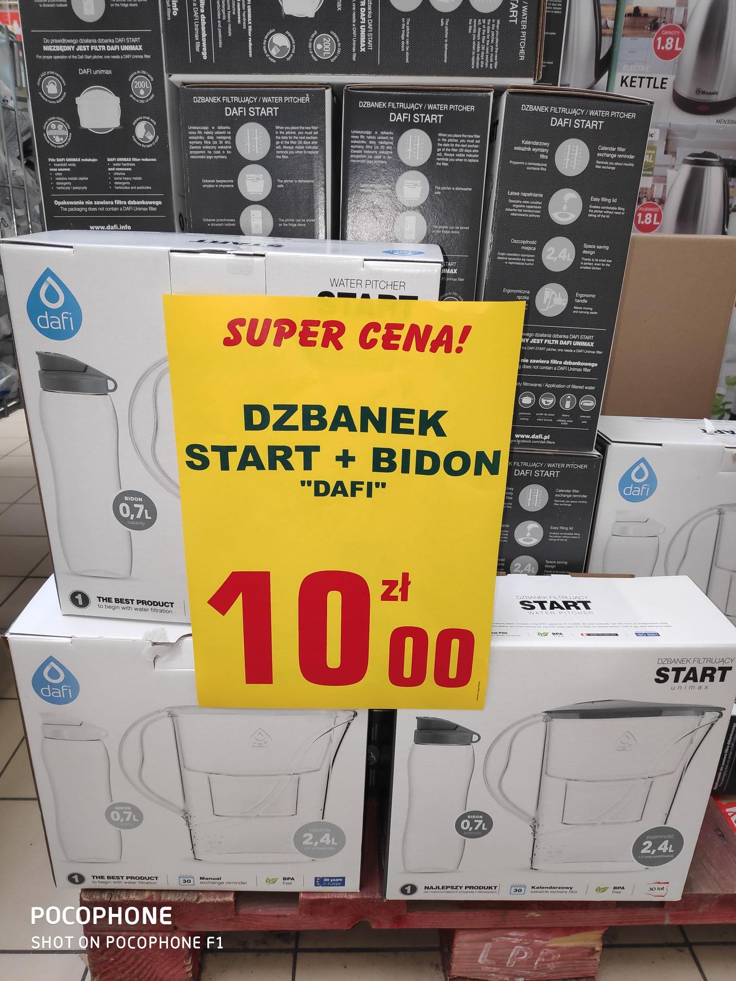 Dzbanek filtrujący Dafi Start 2.4 L + bidon. Leclerc Gdańsk.