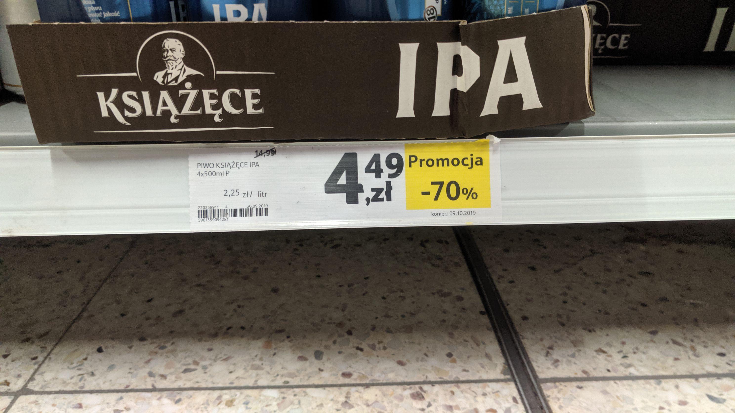 Książęce IPA 4 pack 500ml Tesco Mielec