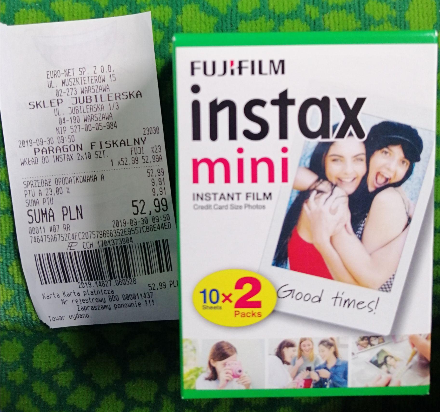 Fujifilm Instax mini wkłady