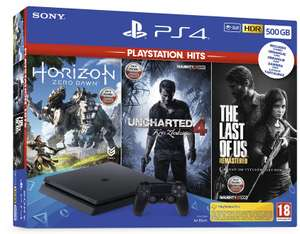 PS4 500GB + 3 GRY UNCHARTED+HORIZON+THE LAST OF US - Allegro Smart