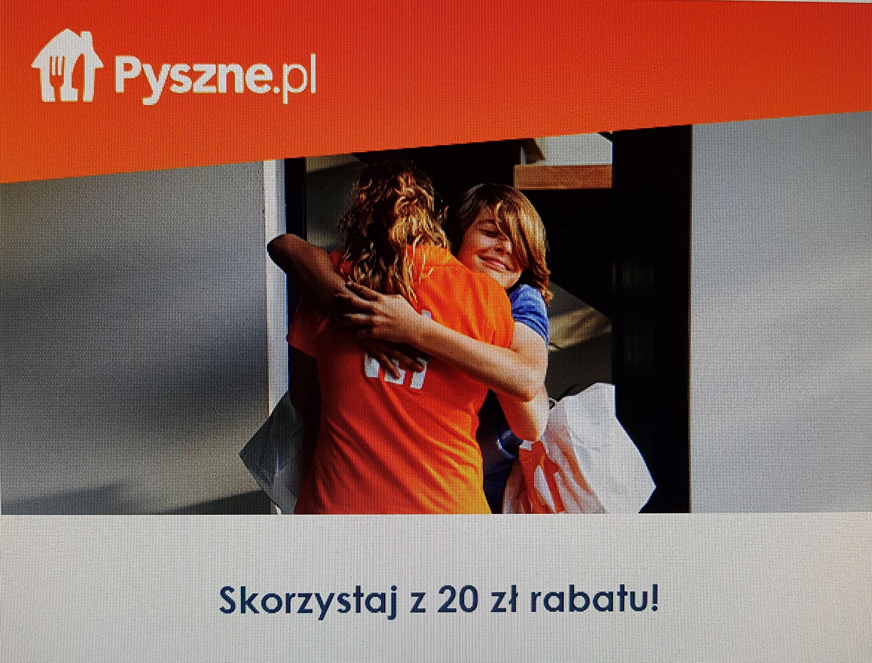 Pyszne.pl  kod rabatowy -20PLN MWZ 30