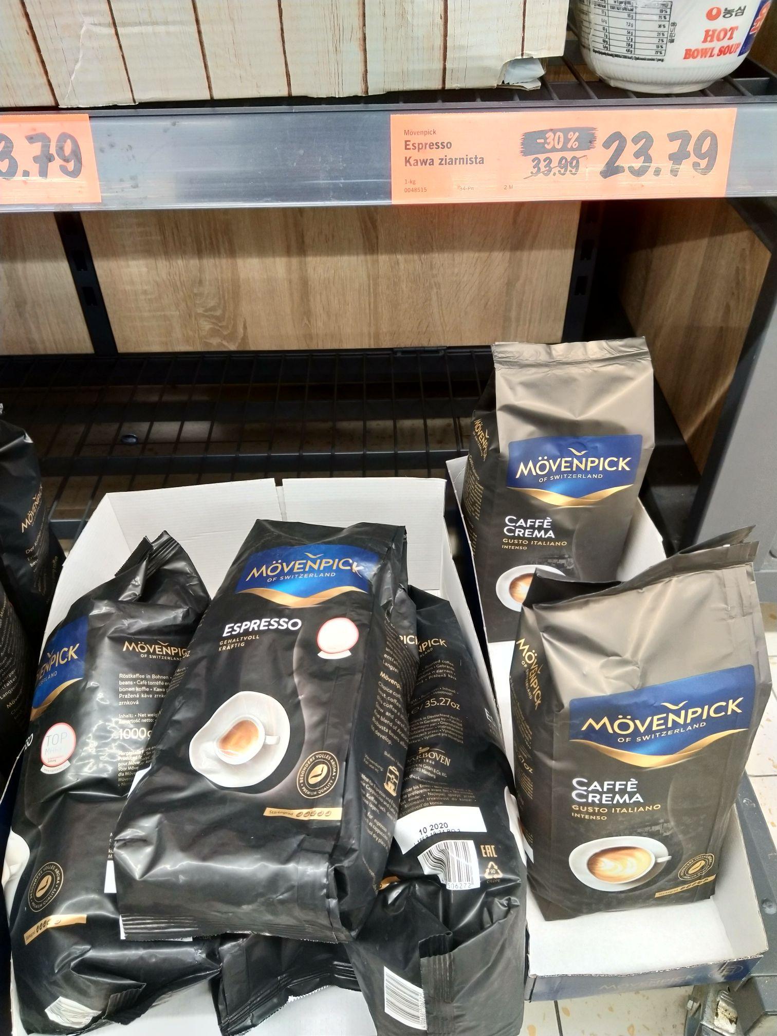 Kawa ziarnista Movenpick Espresso 1 kg Lidl Łęczna
