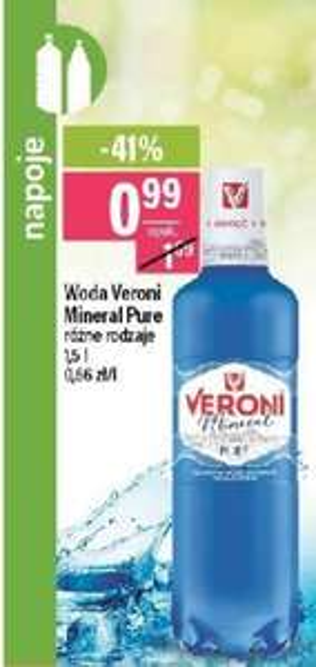 Woda Veroni Mineral. Mila