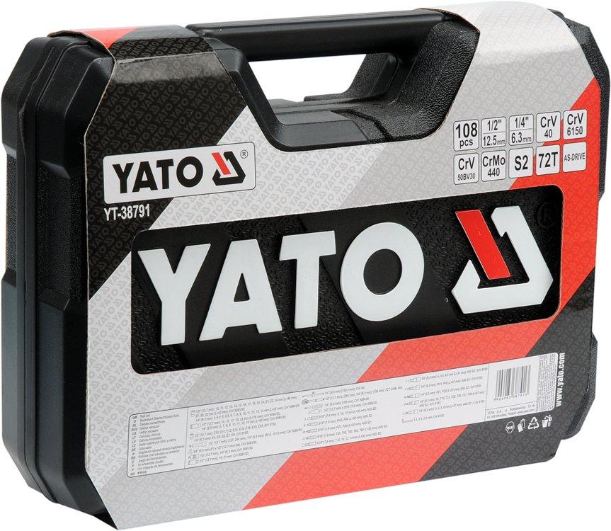 """Zestaw narzędziowy YATO 1/4"""" 1/2"""" 108 szt Allegro Smart"""