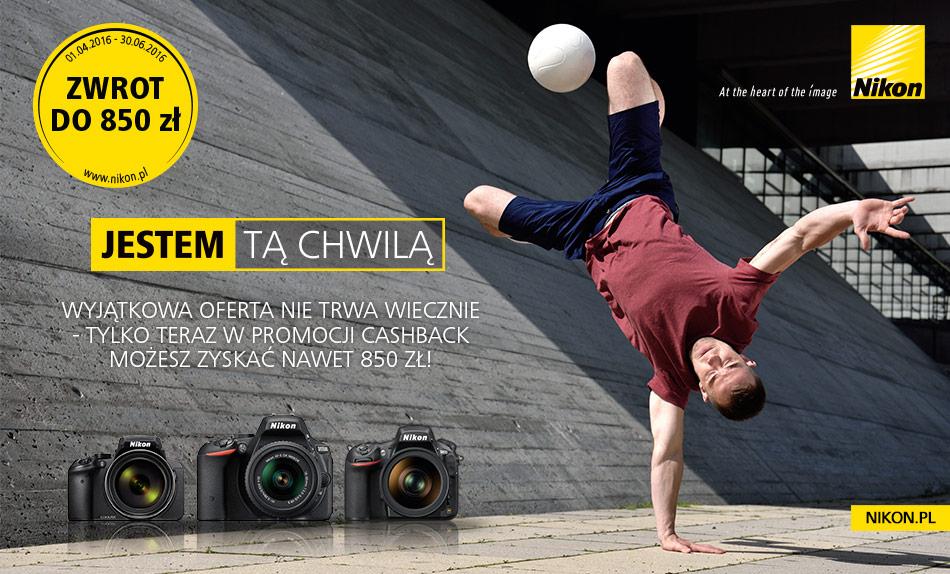 Nikon CASHBACK - zwrot nawet do 850 zł !