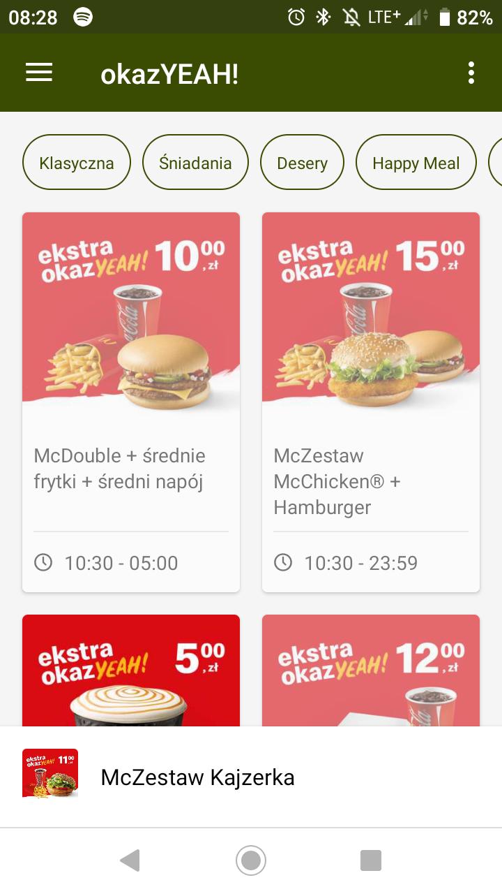 Nowe kupony McDonald's październik