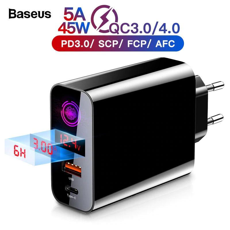 BASEUS POWER DELIVERY QC4 45W $18.80/77zł z kuponem sprzedawcy 1$