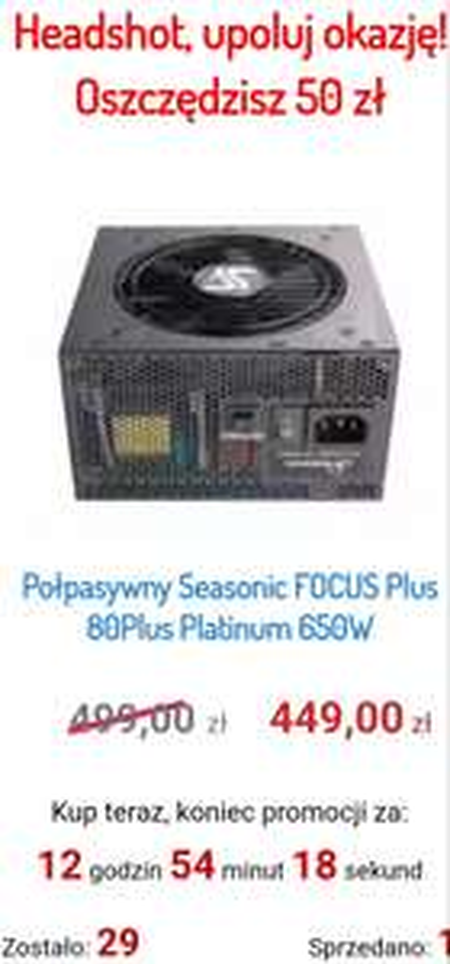 Zasilacz Seasonic FOCUS Plus Platinum 650