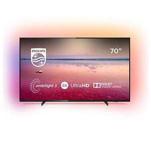 """Telewizor LCD 70"""" Philips 70PUS6704/12 4K, HDR, Dolby Atmos, 3 strefowy Ambilight, WiFi"""