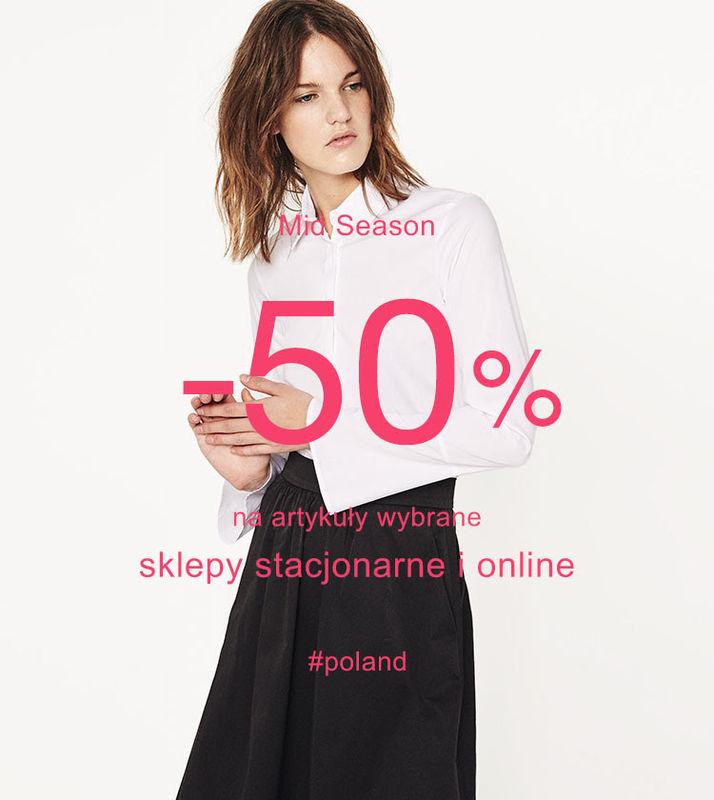 [Wyprzedaż] -50% na wybrane produkty (damskie oraz męskie) @ ZARA