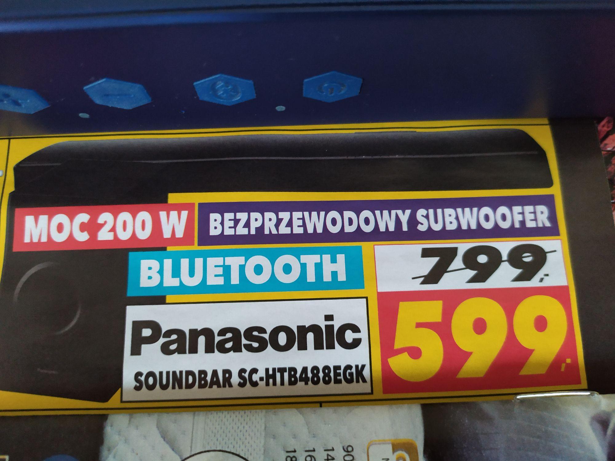 Soundbar Panasonic SC-HTB488EGK ; Karta pamięci MicroSD Toshiba - RTV EURO AGD