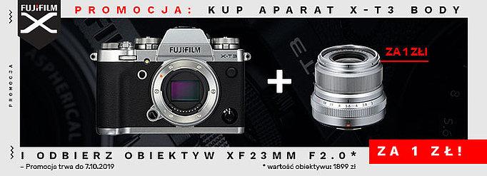 Kup aparat Fujifilm X-T3, a obiektyw Fujinon XF23F2 dostaniesz za 1zł