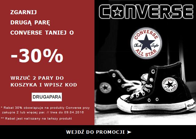 Converse -30% druga para