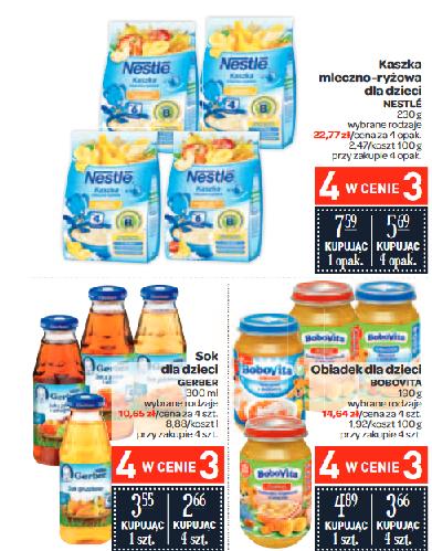 4 w cenie 3 - kaszki Nestle i obiadki BoboVita @ Carrefour